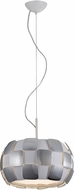 Access 50904LED-WH-CH Layers Modern Chrome & White Acrylic LED Drop Lighting Fixture