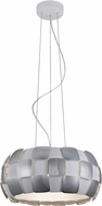 Access 50906-WH-CH Layers Contemporary Chrome & White Acrylic Fluorescent Hanging Pendant Lighting