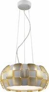 Access 50906LED-WH-GLD Layers Contemporary Gold & White Acrylic LED Pendant Light Fixture