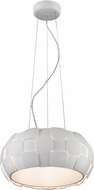 Access 50906LED-WH-WH Layers Modern White & White Acrylic LED Pendant Lighting Fixture