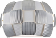 Access 50907LED-WH-CH Layers Modern Chrome & White Acrylic LED Wall Light Sconce
