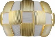 Access 50907LED-WH-GLD Layers Contemporary Gold & White Acrylic LED Wall Sconce Light