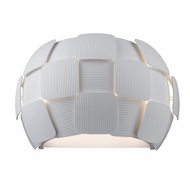 Access 50907LED-WH-WH Layers Modern White & White Acrylic LED Wall Sconce