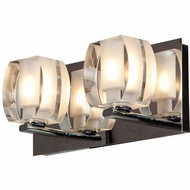 Access 62281-CH-CLFR Sophie Modern Chrome Finish 4.75  Tall Halogen 2-Light Bath Lighting Fixture