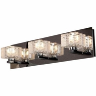 Access 62282-CH-CLFR Sophie Contemporary Chrome Finish 18.75  Wide Halogen 3-Light Bathroom Light Fixture