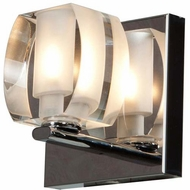 Access 62286-CH-CRY Evia Modern Chrome Finish 4.75  Tall Halogen Wall Light Fixture