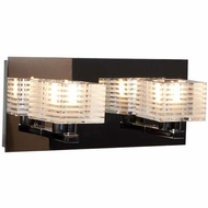 Access 62287-CH-CRY Evia Contemporary Chrome Finish 11  Wide Halogen 2-Light Bathroom Sconce
