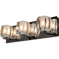 Access 62288-CH-CRY Evia Modern Chrome Finish 4.75  Tall Halogen 3-Light Bath Sconce