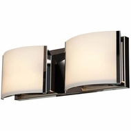 Access 62292-BS-OPL Nitro 2 Modern Brushed Steel Finish 5.25  Tall LED 2-Light Bathroom Vanity Light Fixture