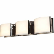 Access 62293-BS-OPL Nitro 2 Contemporary Brushed Steel Finish 25.2  Wide LED 3-Light Bathroom Wall Sconce