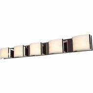 Access 62295-BS-OPL Nitro 2 Contemporary Brushed Steel Finish 48.75  Wide LED 5-Light Bathroom Light Sconce