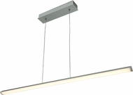 Access 63963LED-SILV-ACR Float Contemporary Silver & White Acrylic LED Island Light Fixture