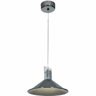 Access 70031LED-CH-CLR Pulse Contemporary Chrome Finish 10.75  Wide LED Mini Pendant Light