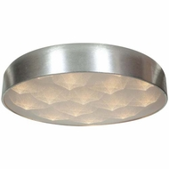 Access 70080LED-BSL-ACR Meteor Contemporary Brushed Silver Finish 13.25  Wide LED Flush Mount Ceiling Light Fixture