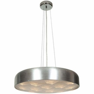 Access 70084LED-BSL-ACR Meteor Contemporary Brushed Silver Finish 23  Wide LED Pendant Lamp