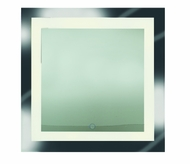 Access 70086LED-MIR Spa Contemporary Mirror & Frosted Glass LED Vanity Lighting Fixture