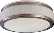 AFX FUF162400L30D1SN Fusion Satin Nickel LED 15.5  Flush Mount Ceiling Light Fixture