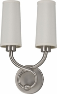 AFX HZS1016218QENSNFT Hudson Satin Nickel Fluorescent Wall Mounted Lamp