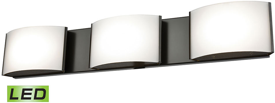 Tech 700bcgiar Gia Contemporary Led Bathroom Lighting: Alico BVL913-10-45 Pandora Modern Oiled Bronze LED Vanity