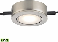 Alico MLE401-5-16M Tuxedo Swivel Contemporary Satin Nickel LED Cabinet Puck Lighting