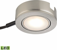 Alico MLE423-5-16MK Tuxedo Swivel Modern Satin Nickel LED Under Counter Puck Light w/ Power Cord & Plug