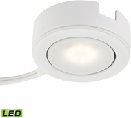 Alico MLE423-5-30K Tuxedo Swivel Contemporary White LED Under Counter Puck Lighting w/ Power Cord & Plug