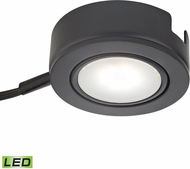 Alico MLE423-5-31K Tuxedo Swivel Modern Black LED Undercabinet Puck Lighting w/ Power Cord & Plug