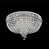 Allegri 027340-010-FR001 Cascata Chrome Firenze Clear 18  Flush Mount Lighting Fixture
