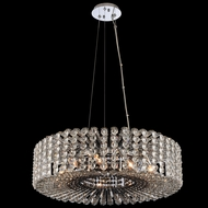 Allegri 031451-010-FR000 Anello Chrome Drum Hanging Pendant Light