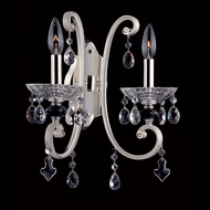 Allegri 10012 Nardini Two-tone Silver Finish 14.5  Tall Candle Wall Lamp
