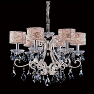 Allegri 10017 Nardini Two-tone Silver Finish 20.5  Tall Hanging Chandelier