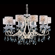 Allegri 10019 Nardini Two-tone Silver Finish 33.5  Wide Chandelier Lighting