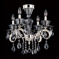 Allegri 10090 Locatelli Two-tone Silver Finish 20  Wide Ceiling Lighting