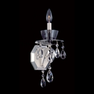 Allegri 10091 Locatelli Two-tone Silver Finish 5.9  Wide Candle Light Sconce