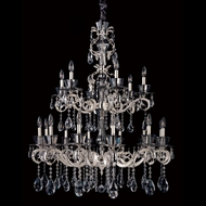 Allegri 10097 Locatelli Two-tone Silver Finish 45  Tall Chandelier Lamp