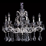 Allegri 10098 Locatelli Two-tone Silver Finish 20  Tall Chandelier Light