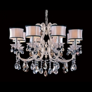 Allegri 10169 Bedetti Two-tone Silver Finish 22  Tall Chandelier Light