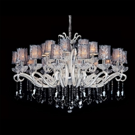 Allegri 10629 Britten Two-tone Silver Finish 49  Wide Ceiling Chandelier
