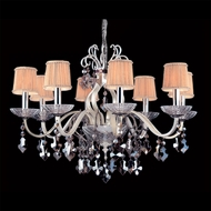 Allegri 10748 Puccini Two-tone Silver Finish 21.5  Tall Chandelier Lamp