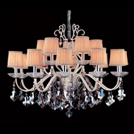 Allegri 10749 Puccini Two-tone Silver Finish 37.25  Tall Chandelier Light