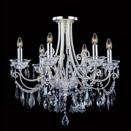 Allegri 10887 Brunetti Two-tone Silver Finish 20.5  Tall Flush Mount Lighting