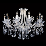 Allegri 10889 Brunetti Two-tone Silver Finish 22  Tall Flush Mount Light Fixture