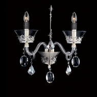 Allegri 10933 Argento Sterling Finish 7.5  Wide Candle Light Sconce