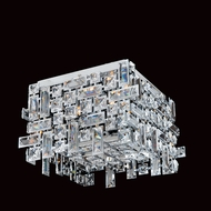 Allegri 11193 Vermeer Chrome Finish 14  Wide Flush Mount Lighting