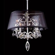 Allegri 11325 Abelina Aged Silver Finish 17.7  Wide Mini Chandelier Lamp