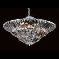 Allegri 11427 Auletta Chrome Finish 96  Tall Flush Mount Ceiling Light Fixture