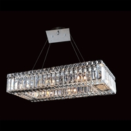 Allegri 11707 Quantum Baguette Chrome Finish 96  Tall Kitchen Island Light