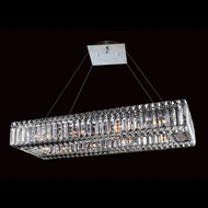 Allegri 11708 Quantum Baguette Chrome Finish 96  Tall Island Light Fixture
