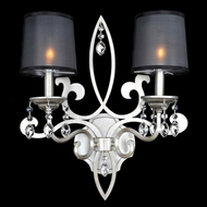 Allegri 23021 Georgetta Aged Silver Wall Lighting Fixture