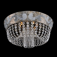 Allegri 24043 Romanov Antique Silver Leaf Halogen Ceiling Lighting Fixture